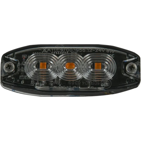 Bīstamības gaisma LED 10-30V 90x33x34mm oranžs
