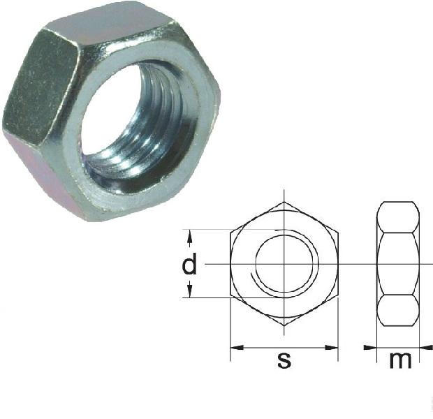 Nut M12x1,5-10 10.9 DIN934