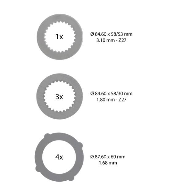 Brake disks 8pc. AL160176