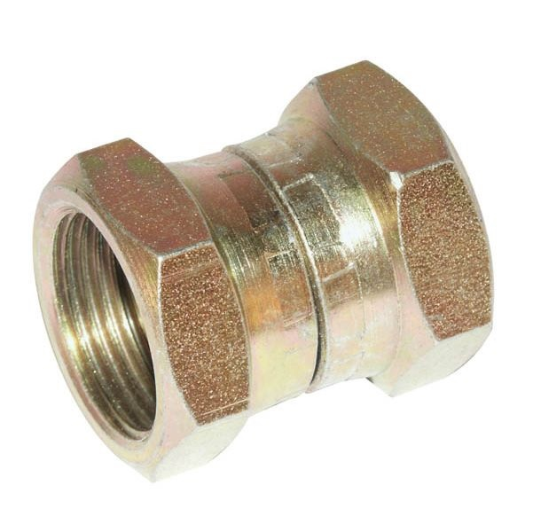 "Connector w. nuts 3/4"" - 3/8"""