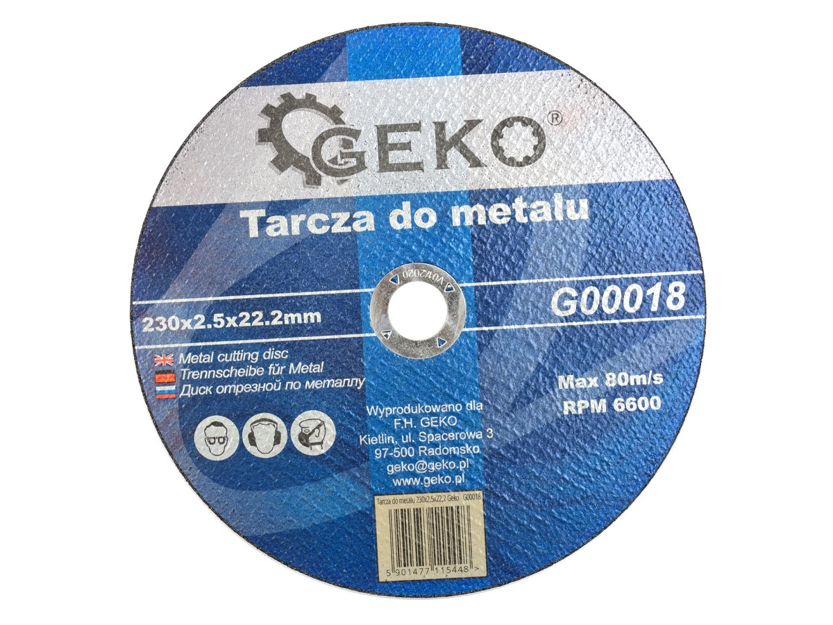 Lõikeketas 230x2,5x22 metall GEKO