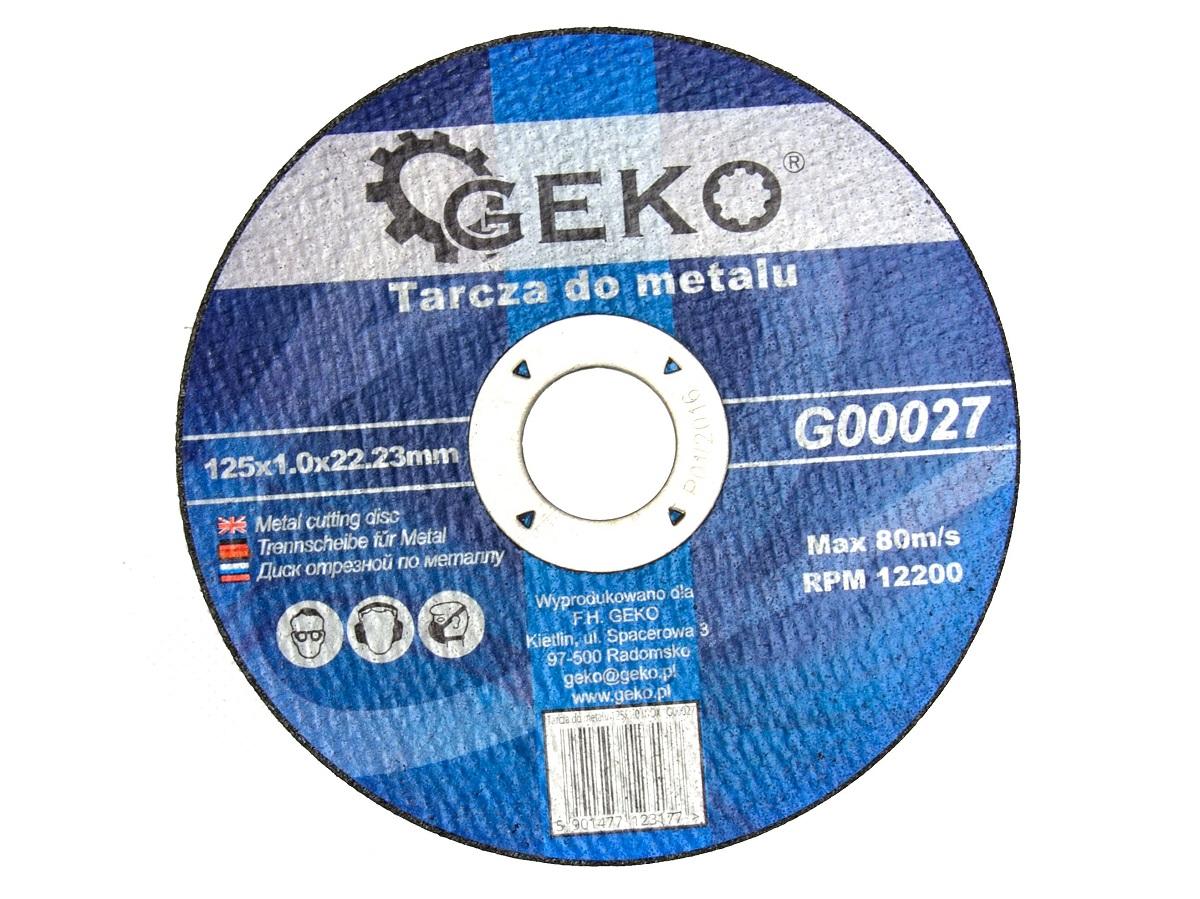 Lõikeketas 125x1,0x22 metall GEKO