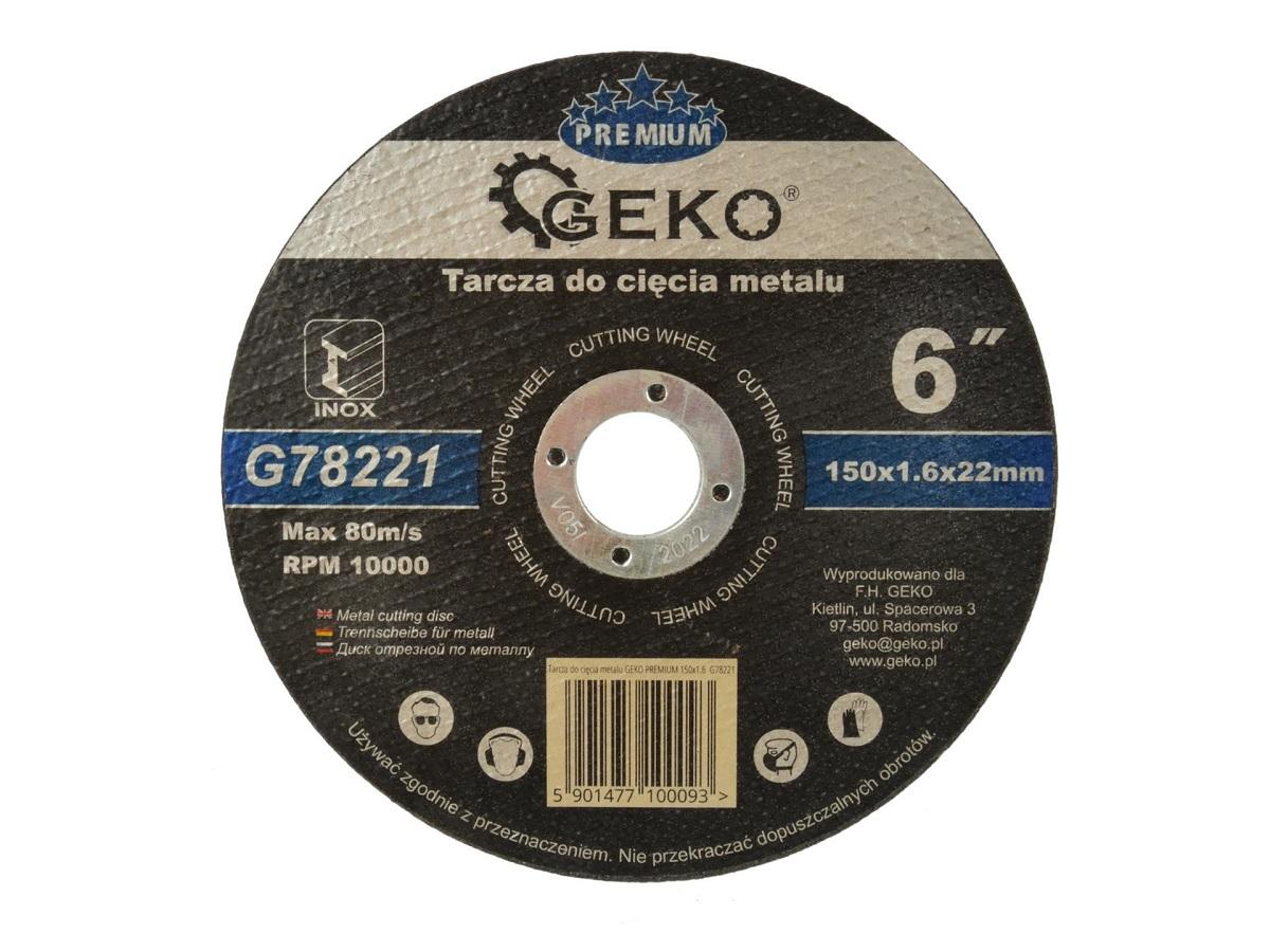 Lõikeketas 150x1,6x22 metall GEKO