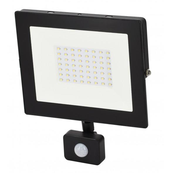 Floodlight w. motion sensor LED 50W 230V