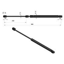 Gaasiamortisaator L-585mm 425Nm AL181251