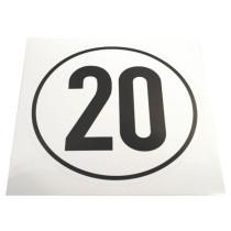 Kiirusepiirangu tähis ¤200mm 20km/h M/V
