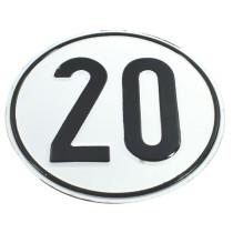 Kiirusepiirangu tähis Ø200mm 20km/h metall
