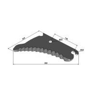Koguri tera 360x225x5mm CC131160 John Deere