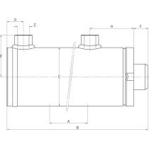 Hüdrosilinder D/AD25-40-450 SATURN