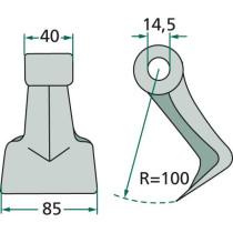 Haamer Ø14,5 40/85mm R100