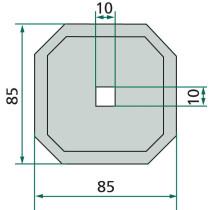 Tera #4mm 85x85mm #10,5mm ZAGO