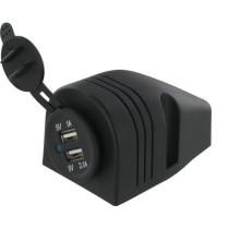 USB autolaadija 12/24V 1000/2100mA