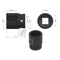 """Löökpadrun 33mm 3/4"""" DIN 3129"""