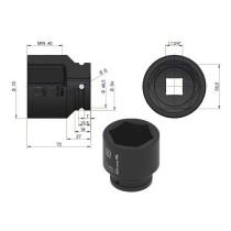 """Löökpadrun 50mm 3/4"""" DIN 3129"""