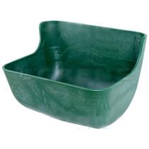 Plastic trough 12,5L green 37x27x29cm