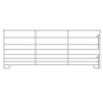 Mini-panel L2,75m H1,1m 1/2x3/4