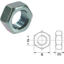 Nut M10x1,25-8 8,8 DIN934