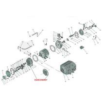 Kompressorin kansi 01KD140047 KD-6500/14000 Hertell