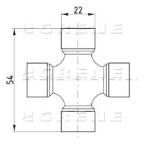 Kardaaniristikko 22x54 T-10 Comer