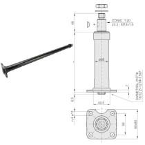 Pулевая колонка L-750mm