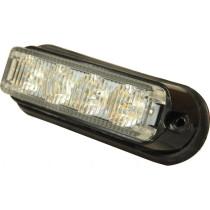 Bīstamības gaisma LED 10-30V 114x30x33 oranžs