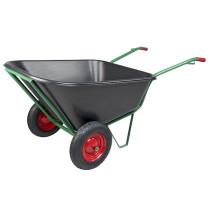 Rokas ratiņi ar diviem riteņiem 290L plastmasas vanna