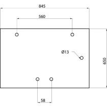 Aizmugures stikls 651x847 182027A2 , 3233046R3