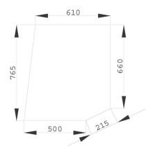 Durvju augšējais stikls AL27354