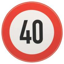 Ātruma ierobežojuma zīme Ø200mm 40km/h