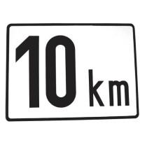 Ātruma ierobežojuma zīme 200x150mm 10km/h