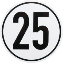 Ātruma ierobežojuma zīme Ø200mm 25km/h