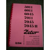 Katalogs ZETOR 5011-7045