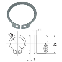 Atdures gredzens 45mm Vārpstai DIN 471