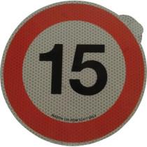 Ātruma ierobežojuma zīme Ø200mm 15km/h